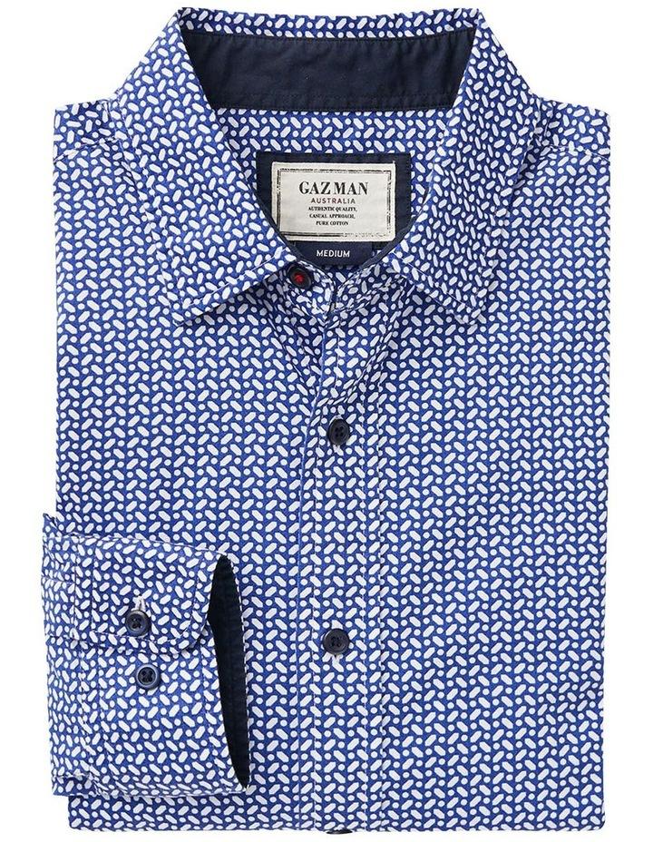 Casual Geo Print Long Sleeve Shirt image 4