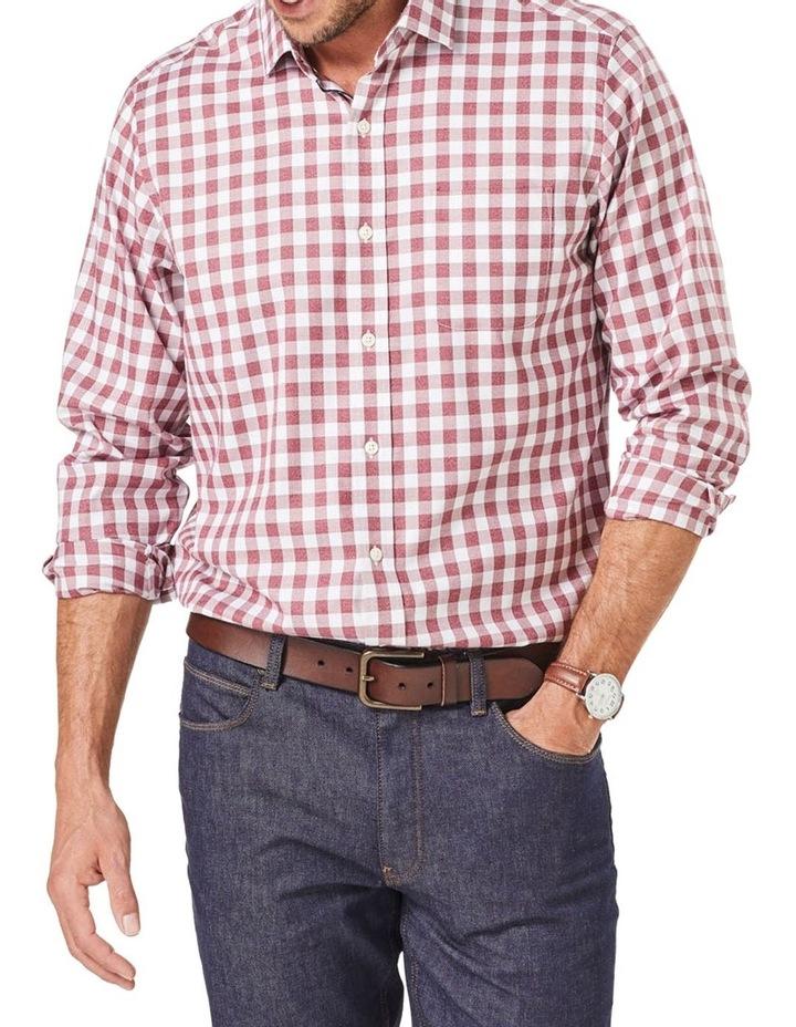 Easy Care Twill Box Check Long Sleeve Shirt image 1