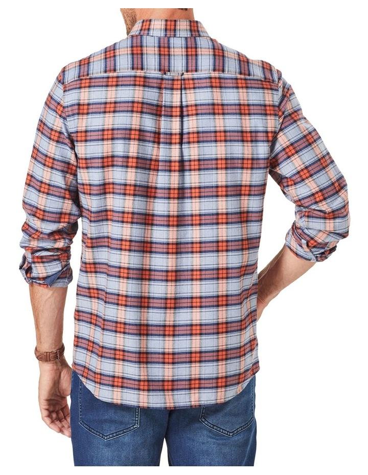 Brushed Twill Check Long Sleeve Shirt Burnt Orange image 2