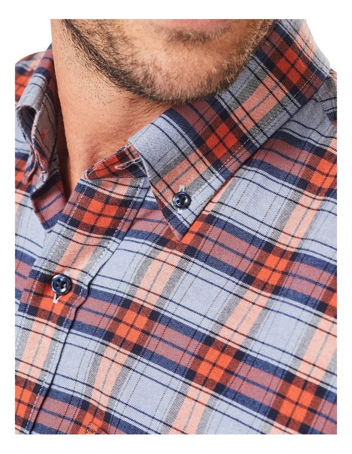 Brushed Twill Check Long Sleeve Shirt Burnt Orange image 3