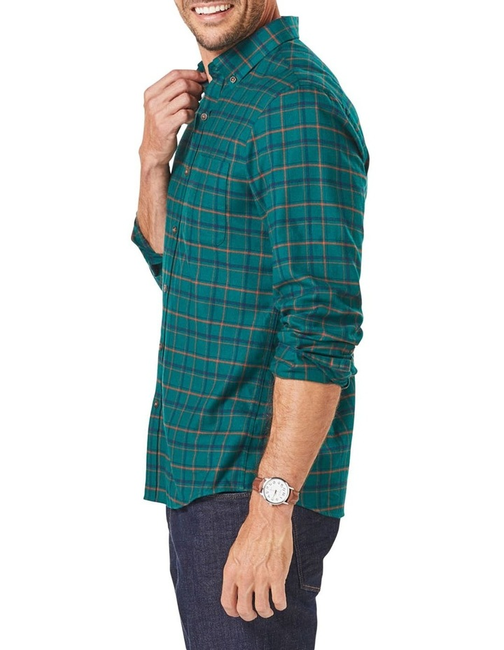 Tailored Brushed Twill Check Long Sleeve Shirt image 4