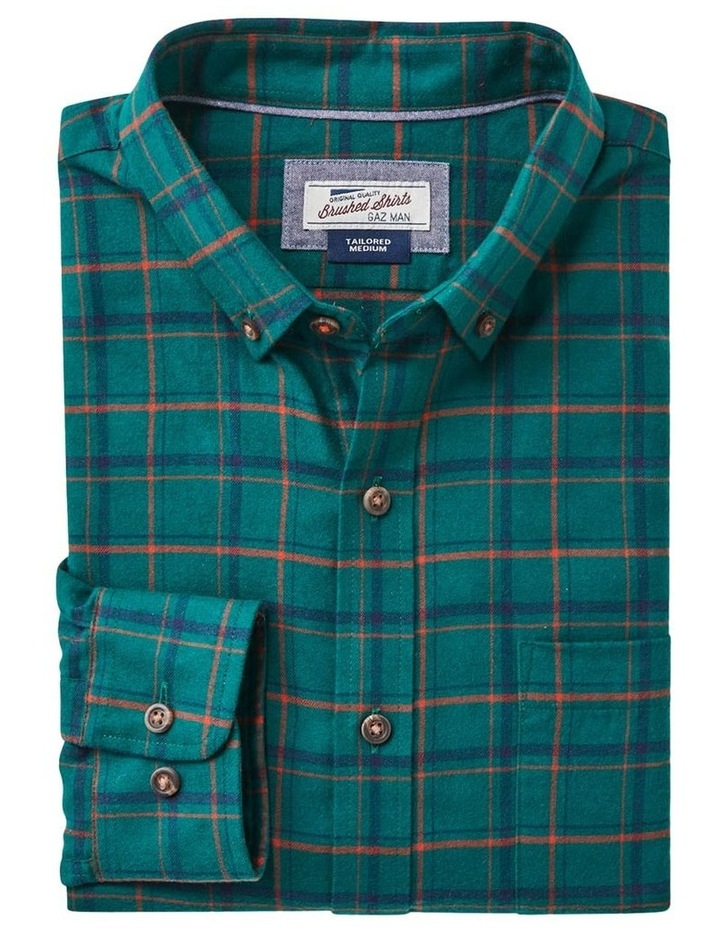Tailored Brushed Twill Check Long Sleeve Shirt image 5