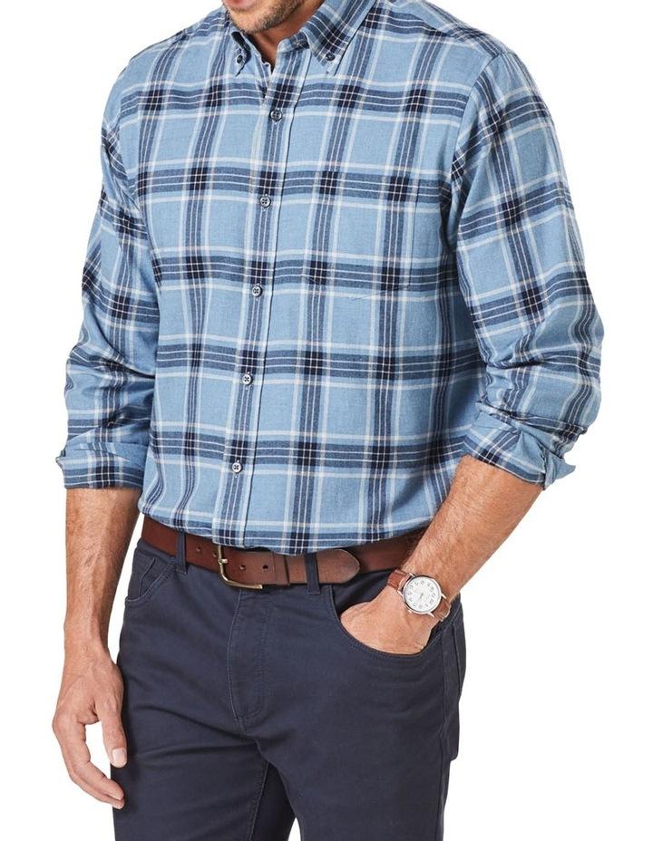Brushed Twill Check Long Sleeve Shirt image 4