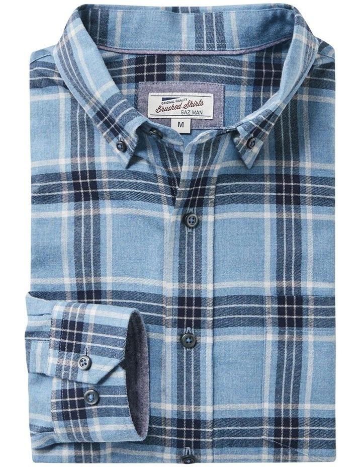 Brushed Twill Check Long Sleeve Shirt image 5