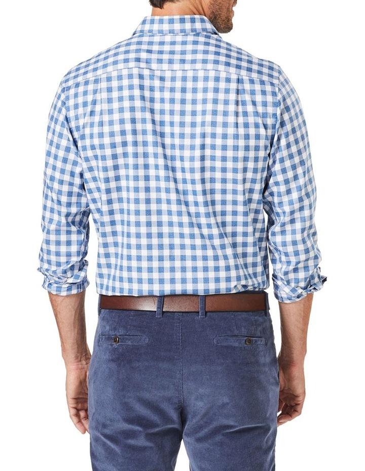 Easy Care Twill Box Check Long Sleeve Shirt image 2