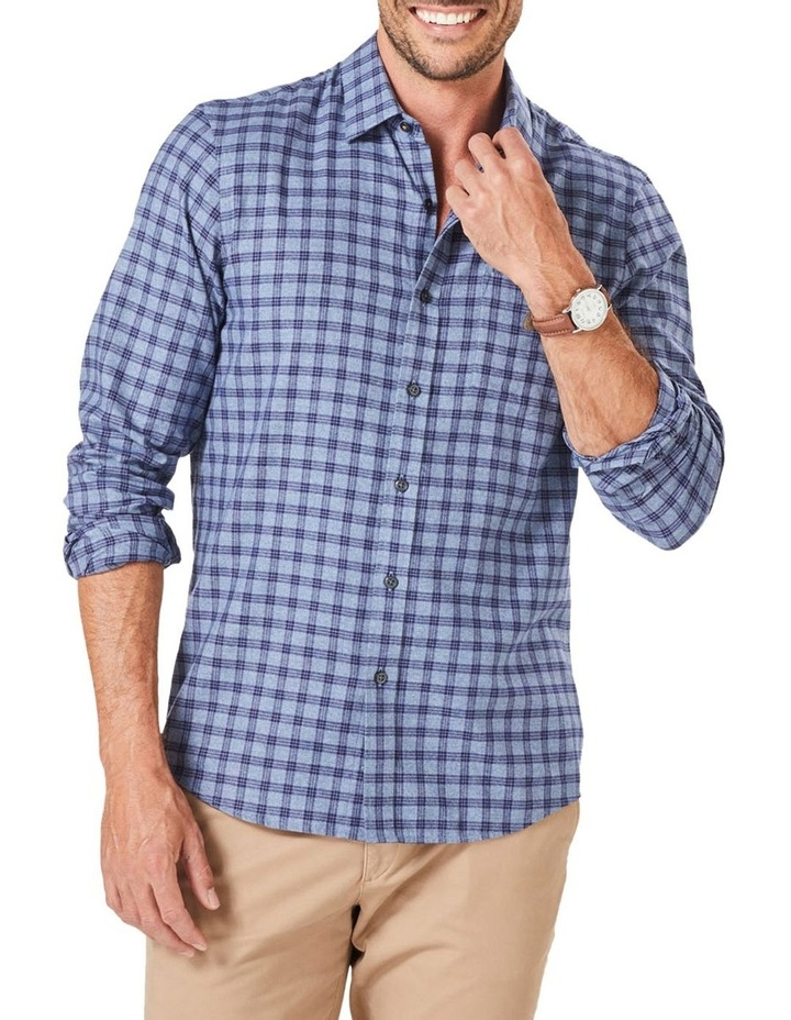 Tailored Brushed Twill Check Long Sleeve Shirt image 1