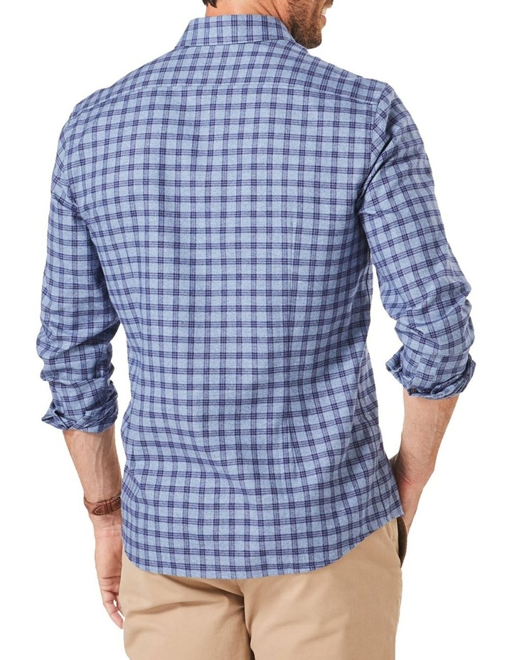 Tailored Brushed Twill Check Long Sleeve Shirt image 2