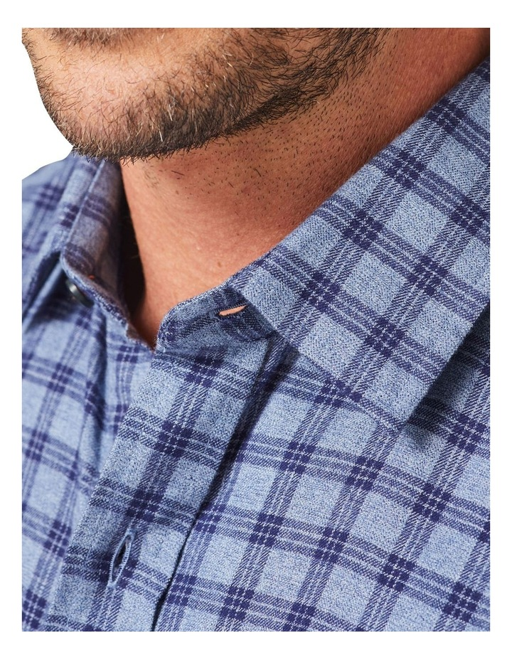 Tailored Brushed Twill Check Long Sleeve Shirt image 3