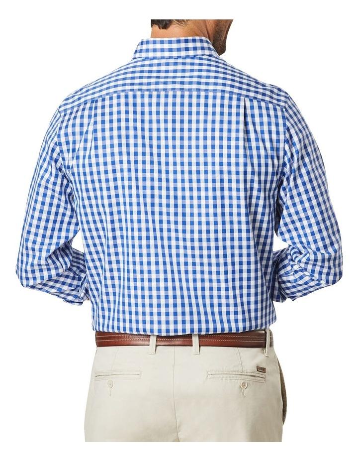 Non-Iron Oxford Gingham Long Sleeve Shirt Navy image 2