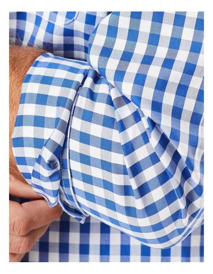 Non-Iron Oxford Gingham Long Sleeve Shirt Navy image 4