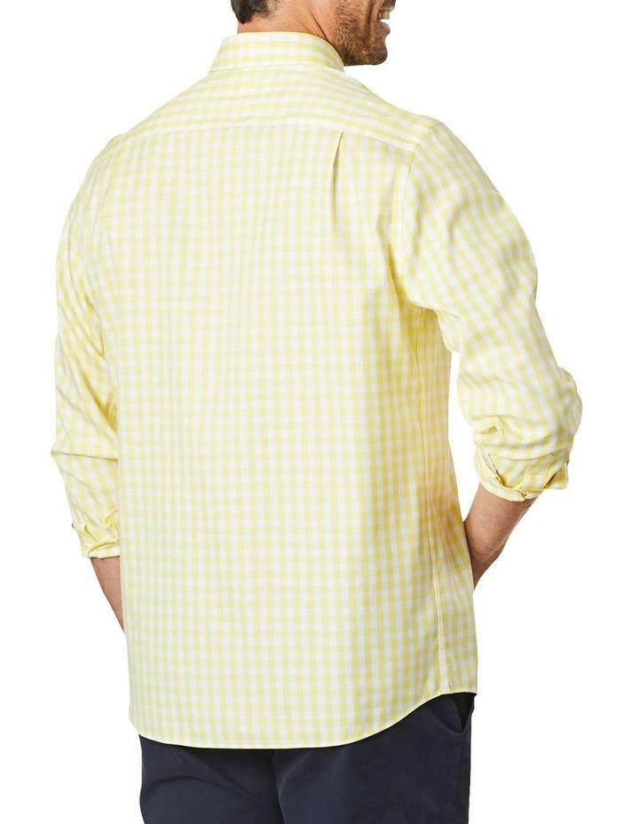 Non-Iron Oxford Gingham Long Sleeve Shirt Yellow image 2