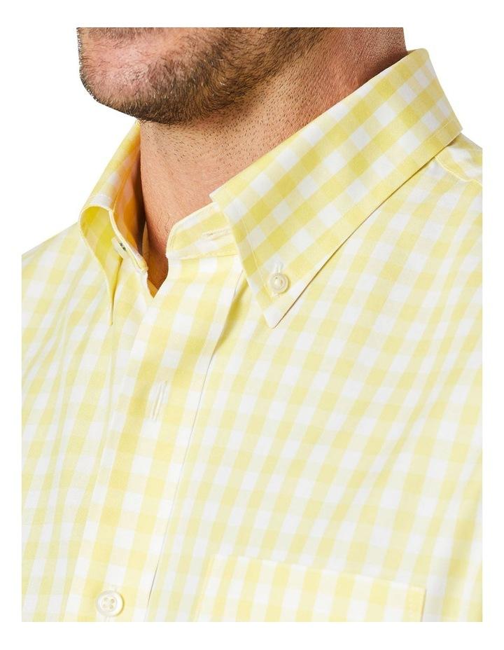 Non-Iron Oxford Gingham Long Sleeve Shirt Yellow image 3
