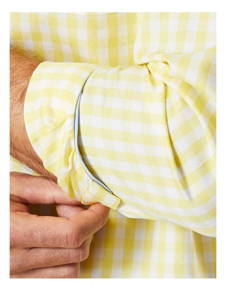 Non-Iron Oxford Gingham Long Sleeve Shirt Yellow image 4