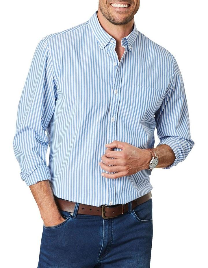 Casual Stretch Stripe Long Sleeve Shirt image 1