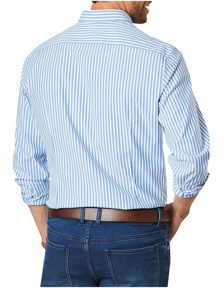 Casual Stretch Stripe Long Sleeve Shirt image 2