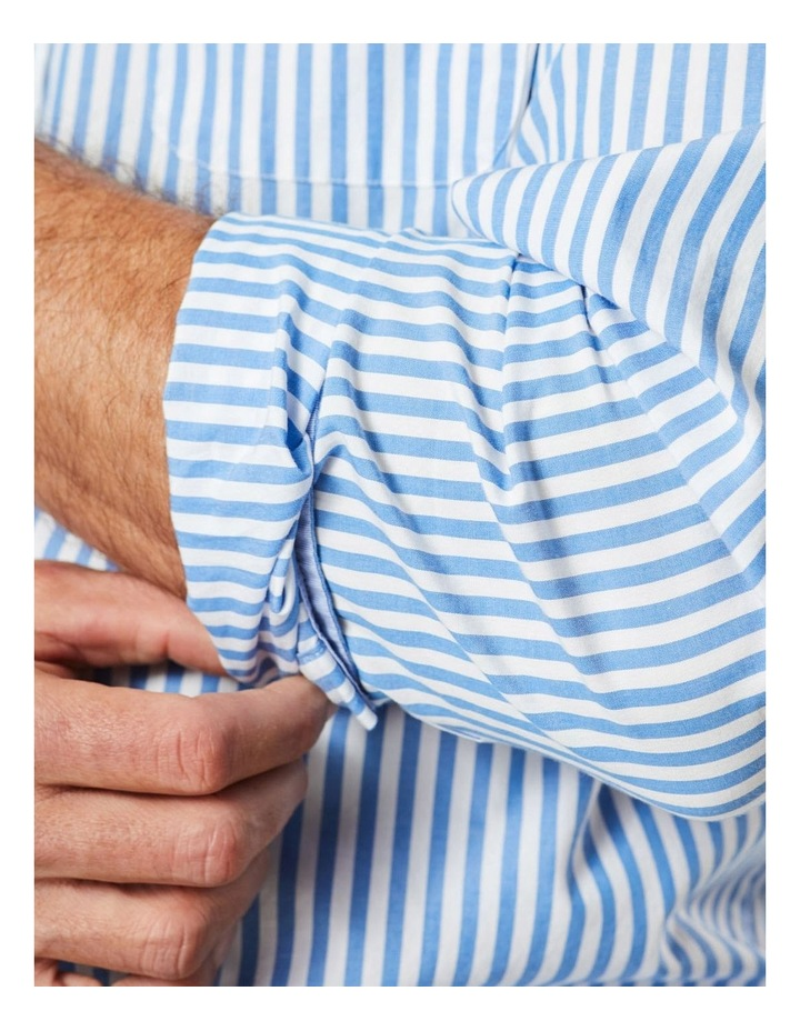 Casual Stretch Stripe Long Sleeve Shirt image 3