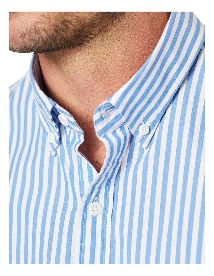 Casual Stretch Stripe Long Sleeve Shirt image 4