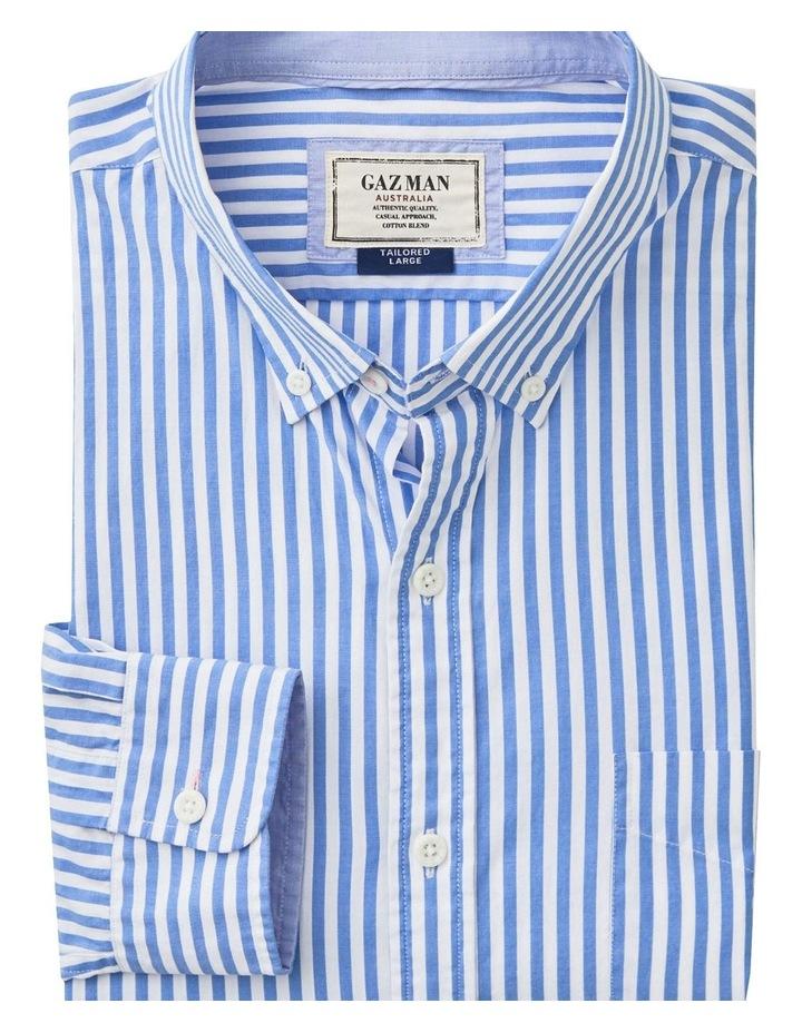 Casual Stretch Stripe Long Sleeve Shirt image 5
