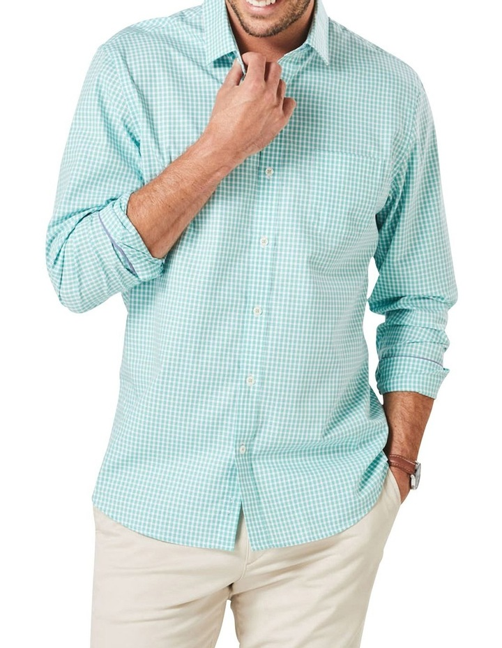 Casual Stretch Check Long Sleeve Shirt image 1