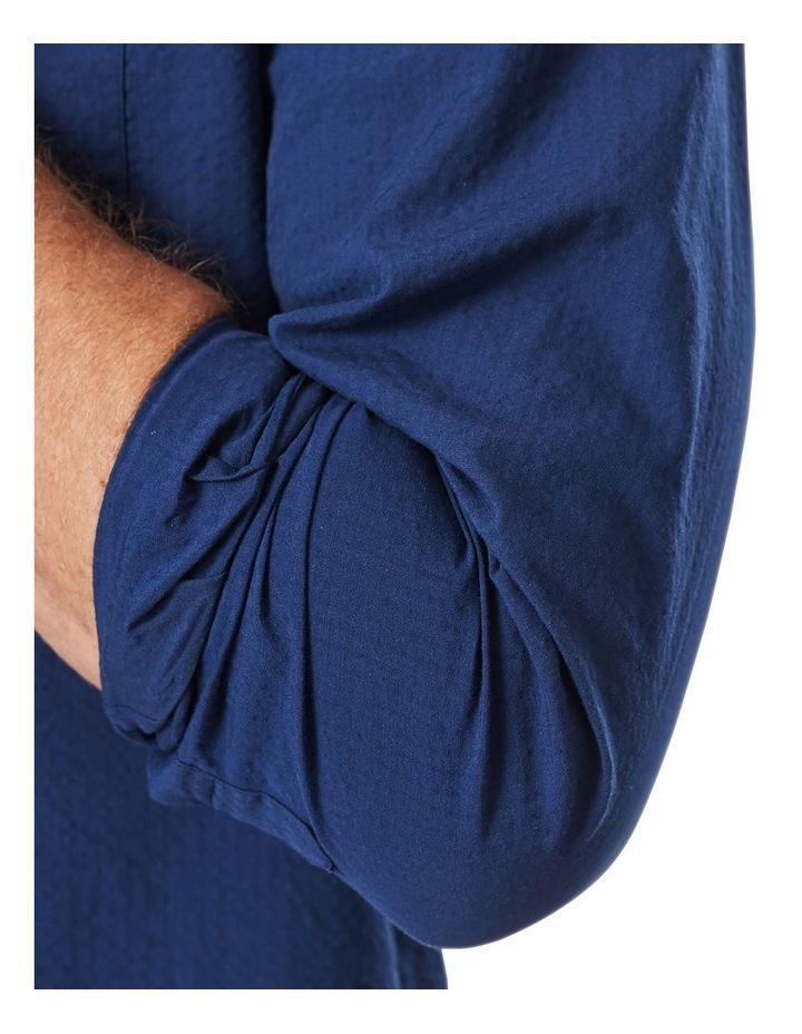 Textured Plain Long Sleeve Shirt image 4