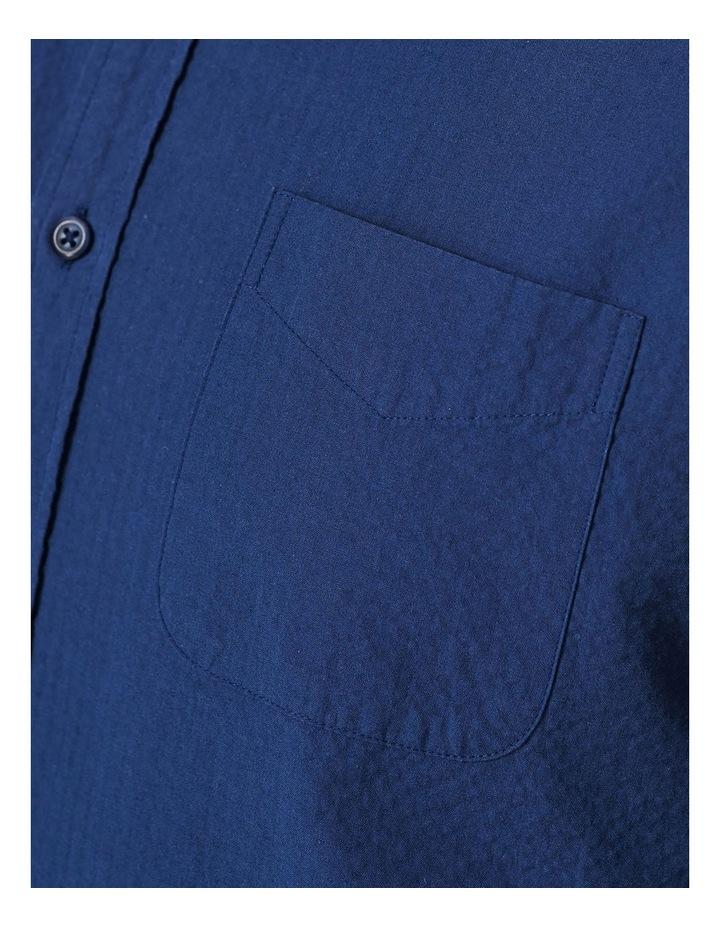 Textured Plain Long Sleeve Shirt image 5