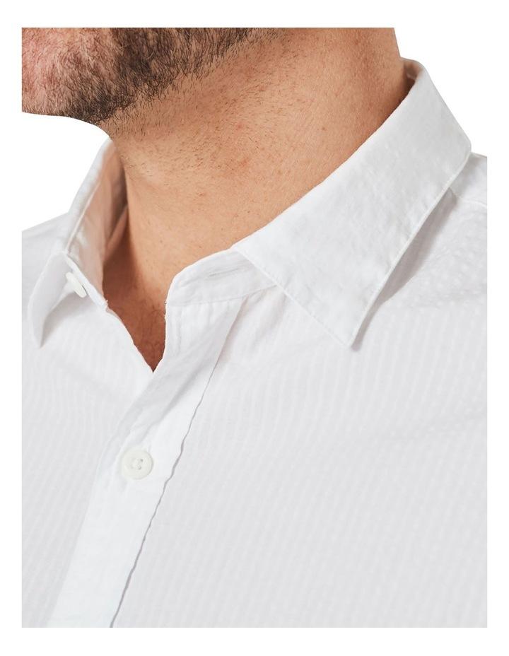 Textured Plain Long Sleeve Shirt image 3