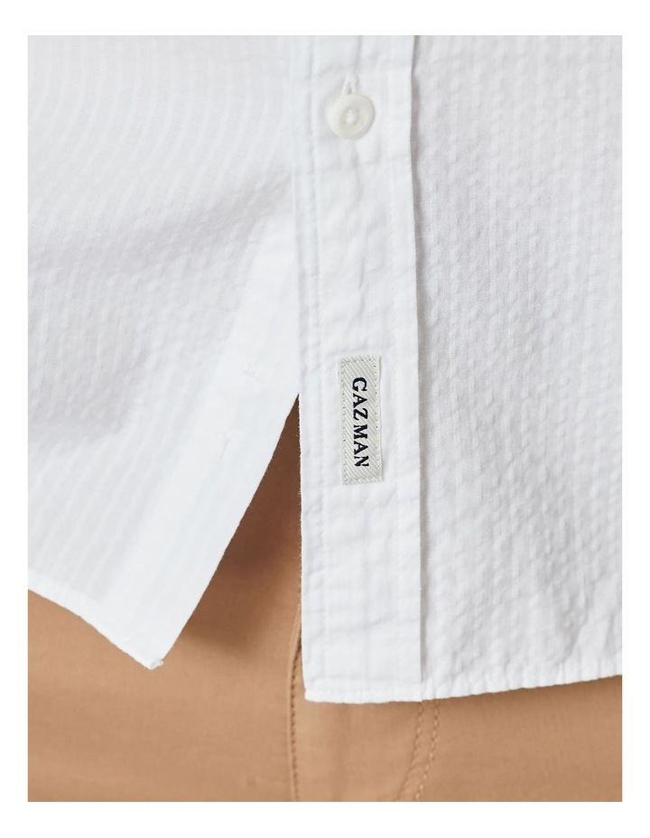 Textured Plain Long Sleeve Shirt image 6