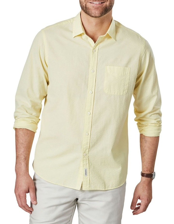 Textured Plain Long Sleeve Shirt image 1