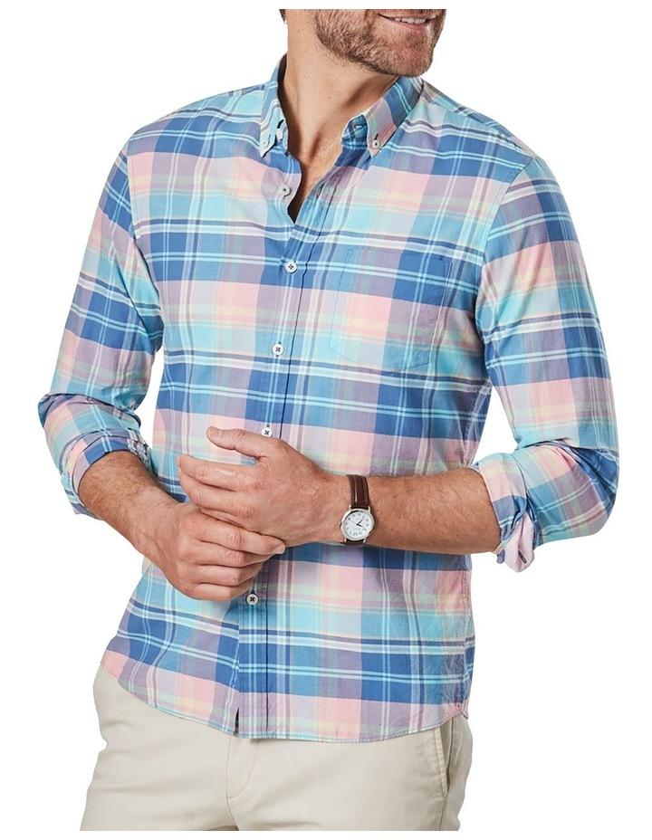 Casual Madras Check Long Sleeve Shirt Pink/Blue image 1