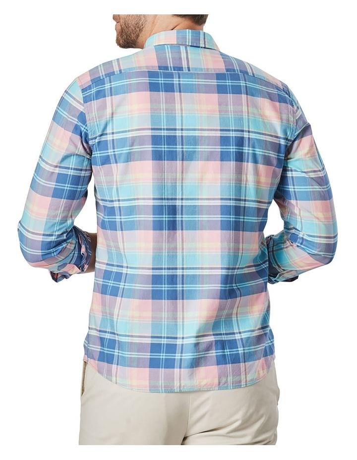 Casual Madras Check Long Sleeve Shirt Pink/Blue image 2