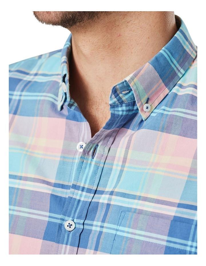 Casual Madras Check Long Sleeve Shirt Pink/Blue image 3