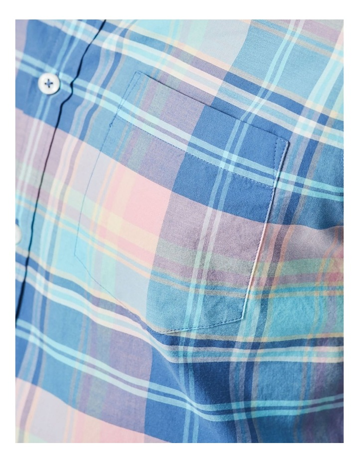 Casual Madras Check Long Sleeve Shirt Pink/Blue image 5