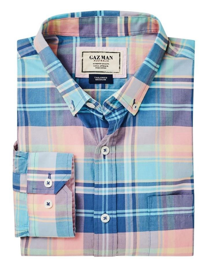 Casual Madras Check Long Sleeve Shirt Pink/Blue image 6