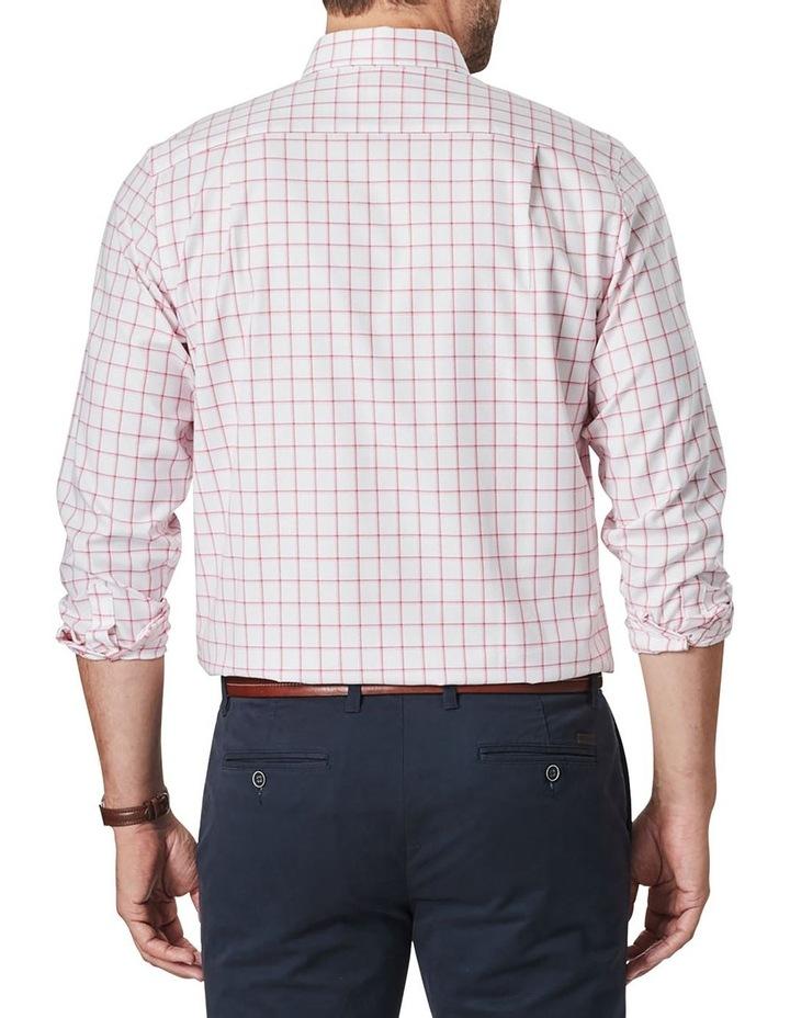 Easy Care Dobby Check Long Sleeve Shirt  White image 2