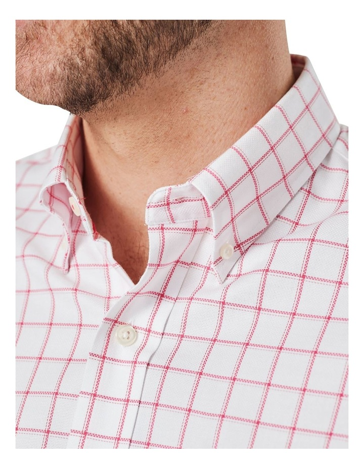 Easy Care Dobby Check Long Sleeve Shirt  White image 3