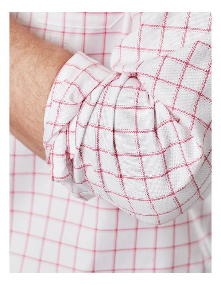 Easy Care Dobby Check Long Sleeve Shirt  White image 4