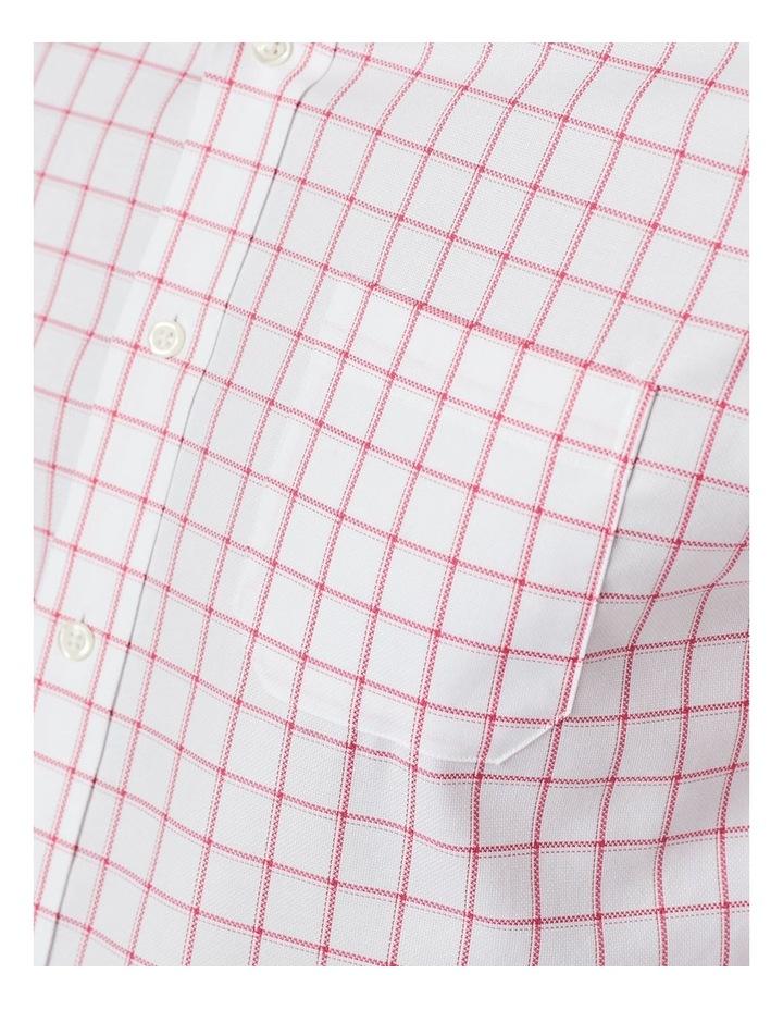 Easy Care Dobby Check Long Sleeve Shirt  White image 5