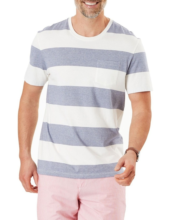 Block Stripe Pocket Tee image 1