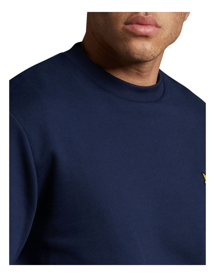 Bottom Branded Crew Neck Navy image 4