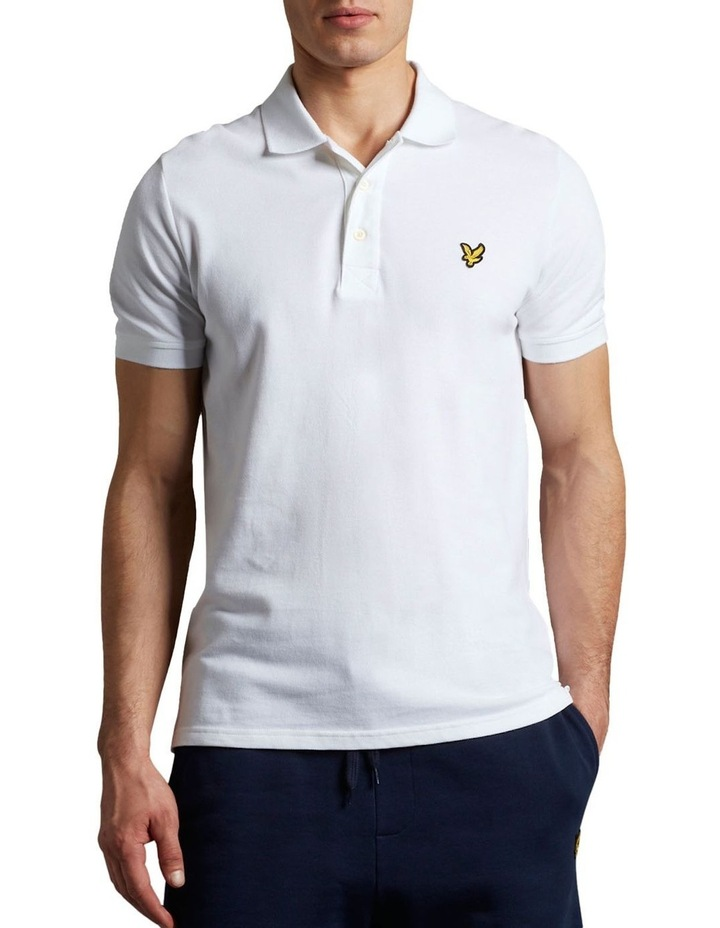 Plain Polo Shirt White image 1