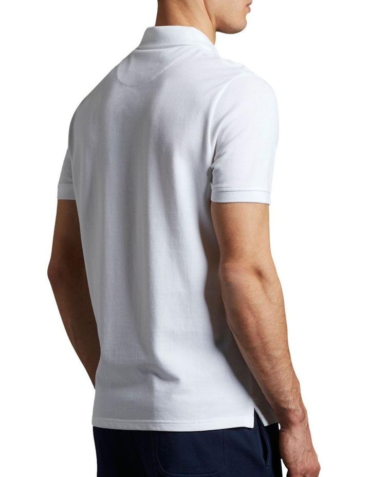 Plain Polo Shirt White image 3
