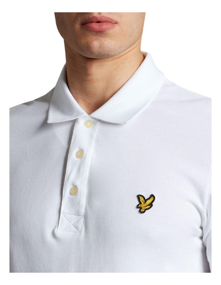 Plain Polo Shirt White image 4
