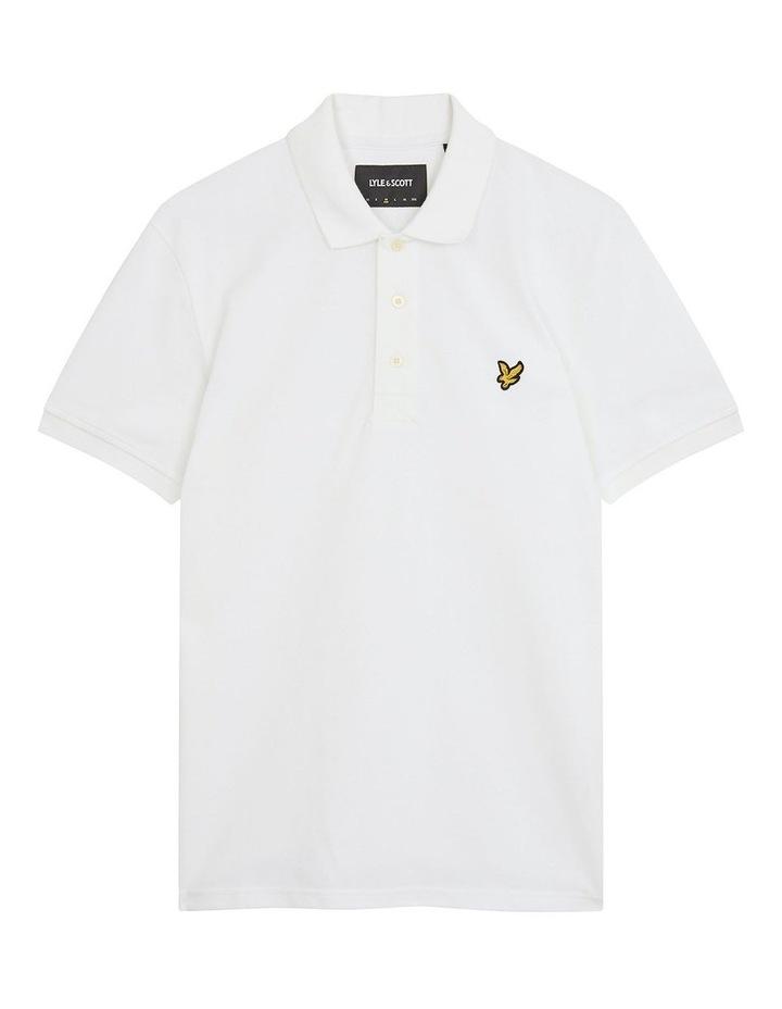 Plain Polo Shirt White image 5