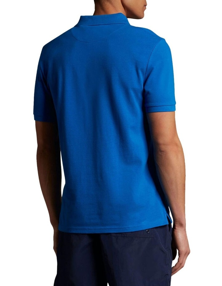 Plain Polo Shirt Blue image 3