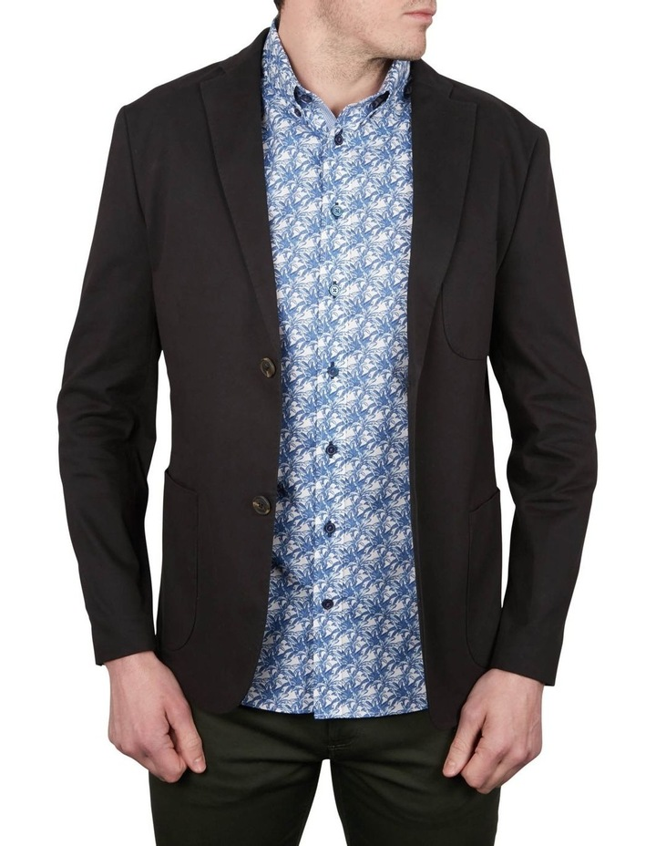 Fine Canvas Stretch Cotton Blazer image 1