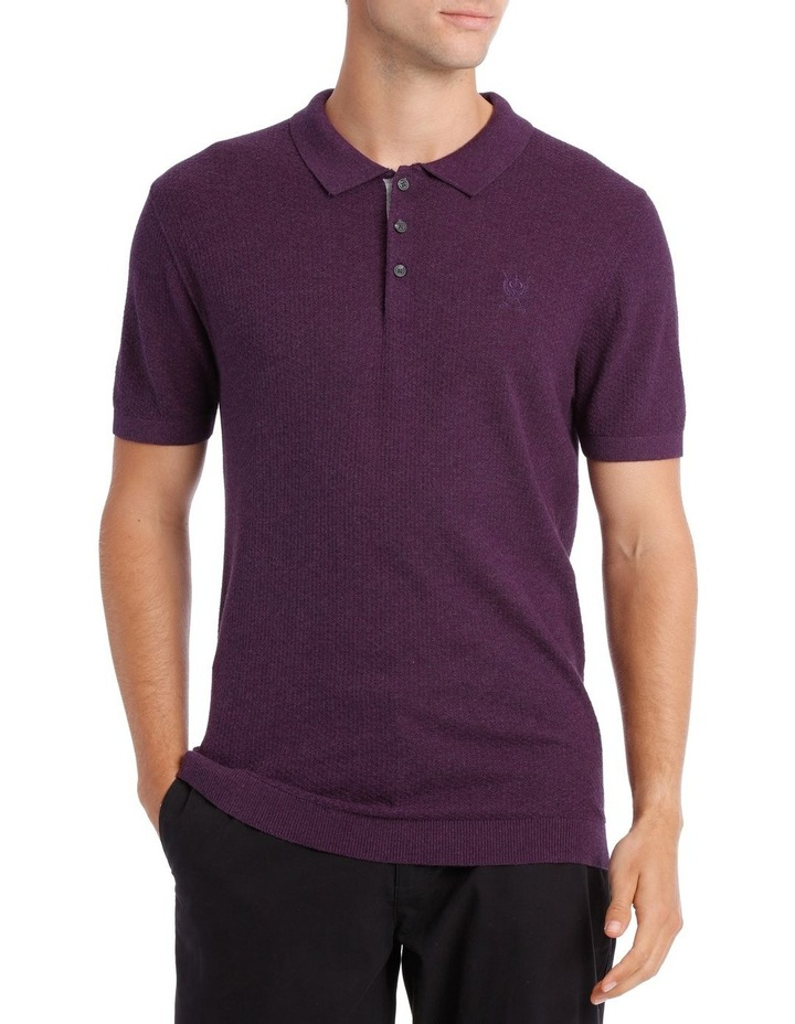 S/S Textured Knit Polo image 1