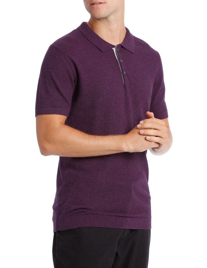 S/S Textured Knit Polo image 2