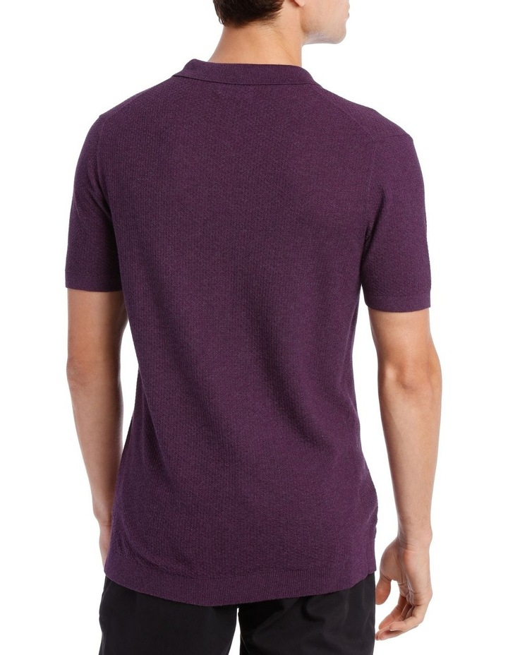 S/S Textured Knit Polo image 3