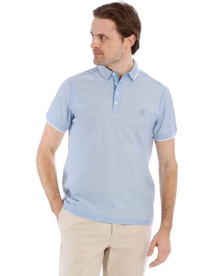 Mercerised Feeder Stripe Polo image 1
