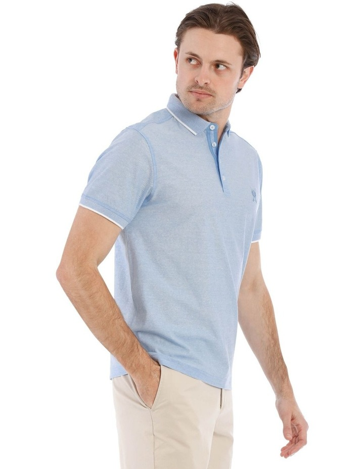 Mercerised Feeder Stripe Polo image 2